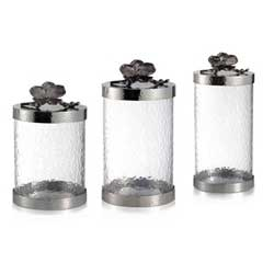 Black Orchid Canister Set