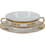 Orsay White Cream Soup Cup & Saucer