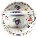 Italian Fruit Tea Cup & Saucer