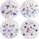 Azur Dessert Plate, Assorted Set of 4