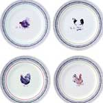 Coquettes Dessert Plate, Assorted Set of 4