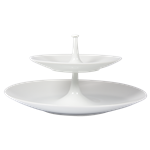Bulle White Two Tier Tray