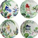 Jardins Extraordinaires Canape Plates Assorted Set of 4