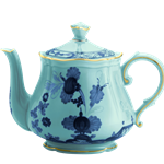Oriente Italiano Gold Trim Teapot Small
