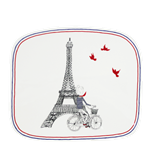 Ca C'est Paris! Organic Square Plate Small