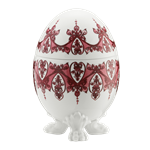 Babele Footed Egg Red
