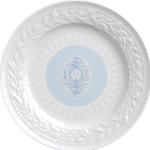 Louvre Easter Salad Plate Blue