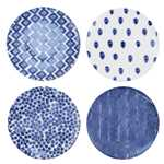 Santorini Dinner Plate, Assorted set of 4