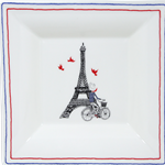 Ca C'est Paris! Square Candy Tray Large