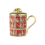 Mug with Cover, Mouse Finial