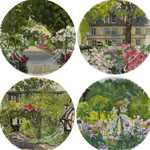 Paris A Giverny Canape Plates Assorted Set of 4