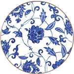 Prince Blue Coupe Salad Plate