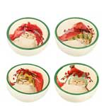 Old Saint Nick Condiment Bowl, Assorted Set of 4