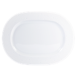 Ecume White Oval Platter Small