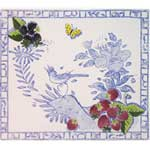 Oiseau Bleu Fruits Square Plate