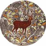 Ramboillet Round Flat Dish Stag