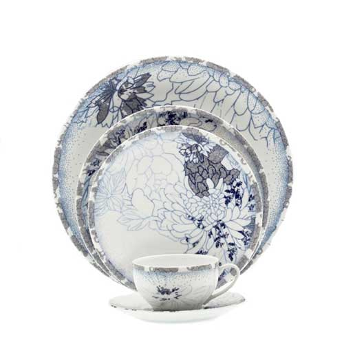 Reve Blue Five Piece Place Setting  sc 1 st  The Polished Plate & Royal Limoges Reve Bleu - The Polished Plate