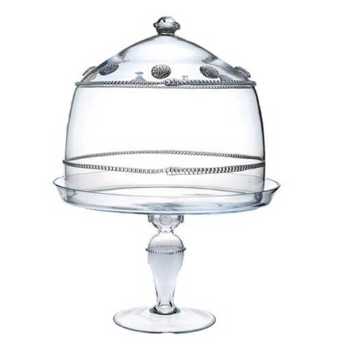 isabella large cake domepedestal set - Glass Cake Dome