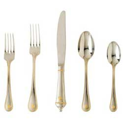 Berry and Thread Flatware with Gold
